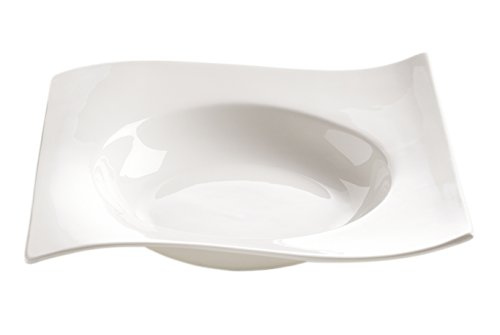 Maxwell & Williams White Basics - Maxwell and Williams Basics Motion Square Soup Plate, 9-Inch, White
