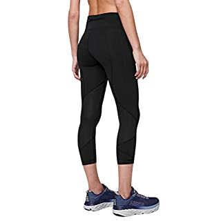 Lululemon Pace Rival Crop 22 Comfort and Convenient Design, Strategic Pocket Position, Gives You Plenty of Storage Options! (Black, 4)