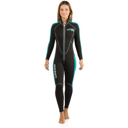 Cressi Mens and Ladies Full Front Zip Wetsuit for Swimming, Snorkeling, Scuba Diving | Lido Long: Designed in Italy