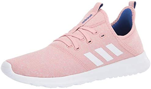 adidas Women's Cloudfoam Pure Running Shoe, Pink Spirit/Chalk ...