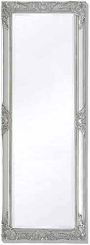 INLIFE Wall Mirror Baroque Style 55.1″x19.7″ Silver