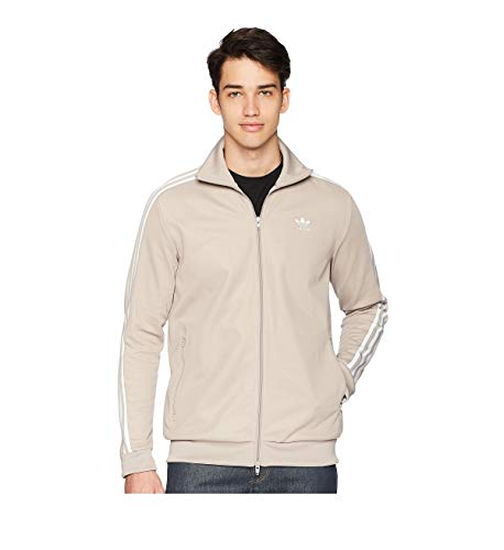 - adidas Originals Men's Originals Franz Beckenbauer Tracktop, Vapour Grey, M