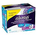Always Discreet Incontinence Pads, Maximum, Long Length, 64 ea Pack of 2