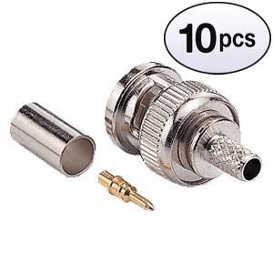 - GOWOS (10 Pack) RG59/62 BNC Male Crimp-on Connector 3pcs