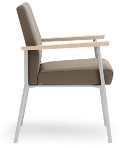 Lesro S1801G7 Mystic Guest Chair LESSE01078 Fabric Transport Gray Arm Finish Walnut Mystic Guest Chair