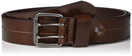 Fossil Men's Murray Leather Double Prong Belt, Brown 36