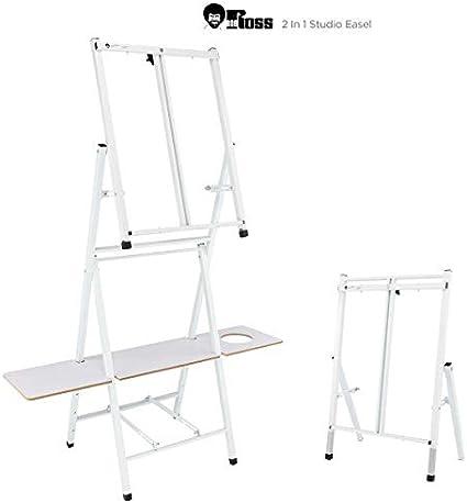 Bob Ross 2 In 1 Studio Easel As Seen On Netflix Metal Easel Four Legged Tabletop Easel White