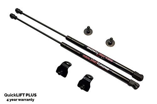 Damper Kit Ford Mustang - Redline Tuning 21-11024-02 Hood QuickLIFT PLUS Bolt in Struts (All Black System, 4 year warranty) Compatible for Ford Mustang 2005-2014 All STOCK Hoods