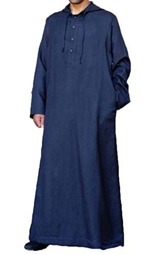 Nanquan Men Work Drawstring Long Sleeve Hoodie Thobe for sale  Delivered anywhere in USA
