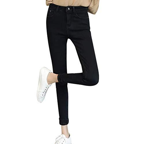 Et Taille D'hiver Bozevon Pour Haute Femme En Style05 Pantalon Épais Jean Velours YwxqFB