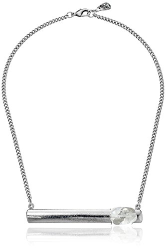 (Yochi Bar and Stone Silver Necklace, 18