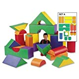 Module Blocks, 12'', 21 Pieces, Multi-Color, Sold as 1 Set