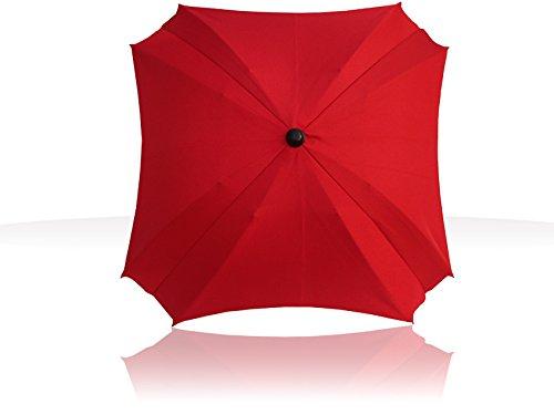 Sombrilla Universal Carrito de Bebé, Paraguas Sombrilla Parasol para Cochecito y Silla de Paseo con UV Protección 360 Grados de Dirección Ajustable para Protege el Bebés y Niños Color Rojo Todo de Rojo