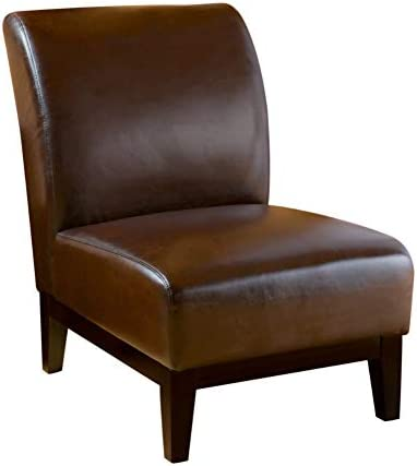 Christopher Knight Home Darcy Leather Slipper Chair