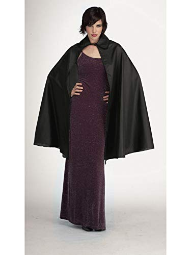Rubie's Taffeta 3/4 Length Cape Costume, Black, 45-Inch