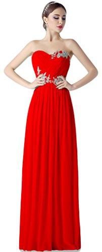 A Rot Kleid Linie Damen Albrose A5zqw8apnp