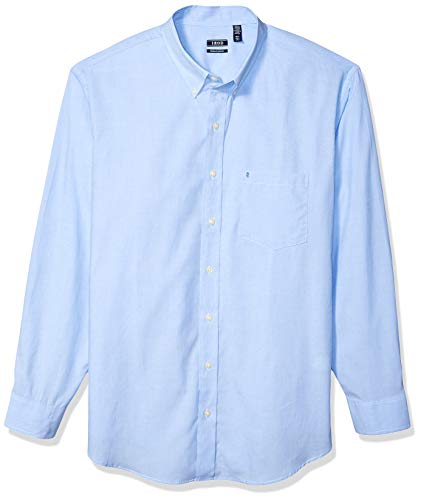 IZOD Men's Performance Natural Stretch Solid Long Sleeve Shirt (Big & Tall and Tall Slim) (4 Size Blue Dress)