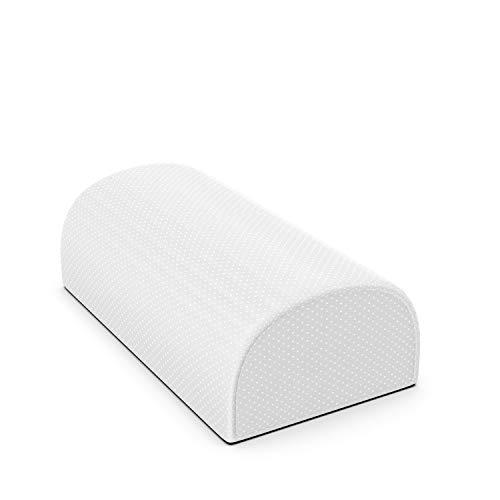 Serenilite Half Moon Bolster Pillow Foot & Leg Support Rest - Premium Anti Slip Cover & Ergonomic Inner Foam Cushion - Great for Sleeping, Lounging, Knee Pain Relief, Sciatica, Deskwork 17X10X4.5