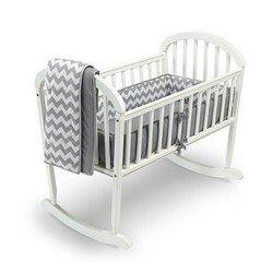 - Babykidsbargains Chevron Cradle Bedding, Grey, 18
