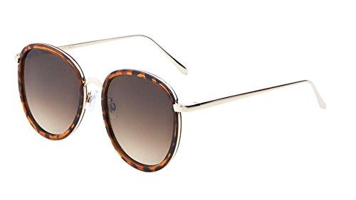 Classic Dapper Aviator Sunglasses Flat Lens Unisex Iconic Fashion Eyewear (Tortoise, - Tom Cruise Aviator Shades