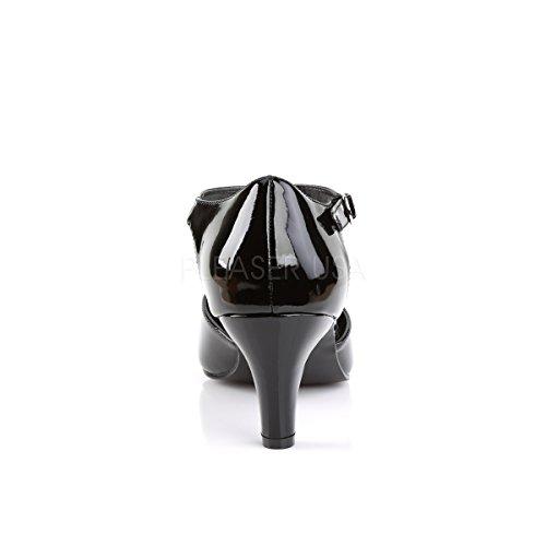 Strap patent Divine Cut 415 patent sizes black Pleaser Big Pink Label Pumps Wide T black nwAAftx6q