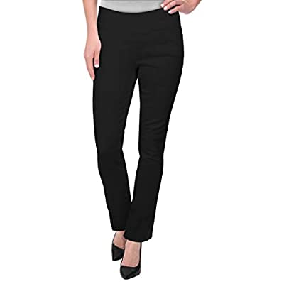 Hybrid & Company Womens Pull on Business Millennium Bootcut Skinny Pants with Prints at Women's Clothing store