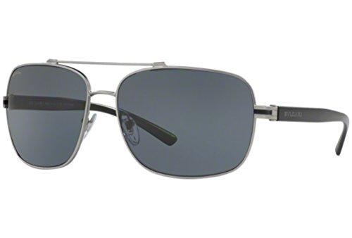 Bvlgari BV5038 195/81 Matte Gunmetal BV5038 Square Aviator Sunglasses - Polarized Sunglasses Bvlgari