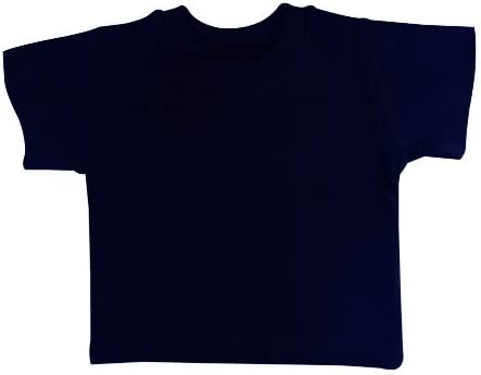 Navy blue plain short sleeve baby tshirt 3-6 months