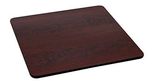 (Flash Furniture 42'' Square Table Top with Black or Mahogany Reversible Laminate)