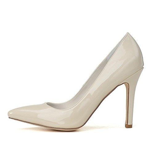 0608 Cómodo Para Cuero 14 L Tamaño De Fiesta Y Boda Gran Champagne Altos yc Zapatos Tacones Mujer Puntiagudo nngwqvx
