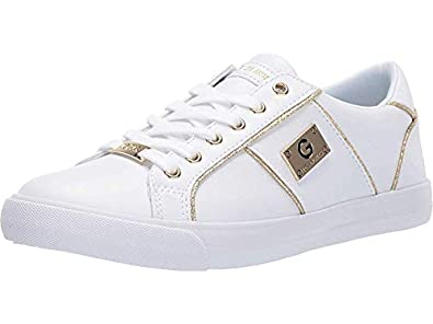 G by GUESS Women's Ossy White/Gold 8.5 M US
