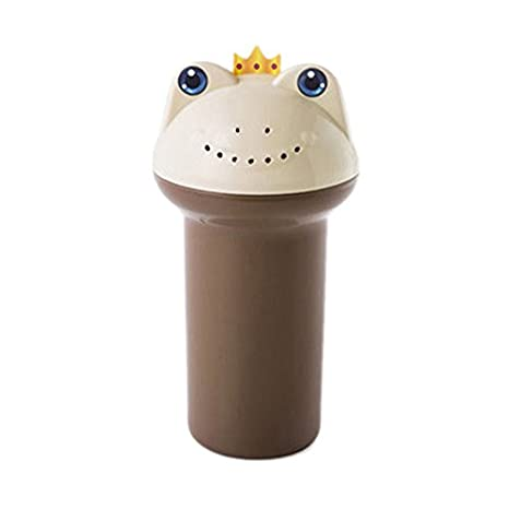 DANMEI Cartoon Frog Prince Baby shampoo tazza con fori di drenaggio Kids Baby child Wash Hair Eye Shield shampoo RINSE Cup Flower pot irrigatore brocca Blue