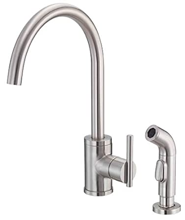 Nice Danze D401558SS Parma Single Handle Kitchen Faucet With Side Spray,  Stainless Steel