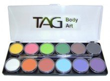 Tag Face Paint Palette 12 X 10g Face and Body Paint by TAG Body Art