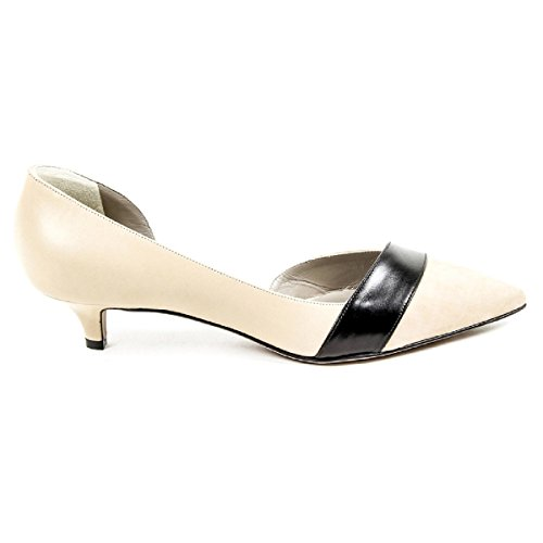 Kiton Womens Pump Open Side D39809 VIP 2199 BEIGE NERO Beige hKQq0So