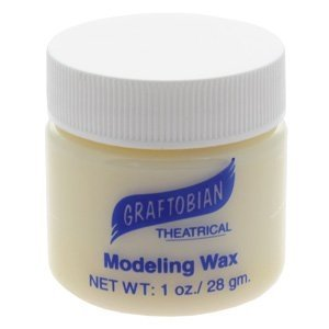 [Modeling Wax - Bone Color - 1 oz. Jar] (Costume Makeup Wax)