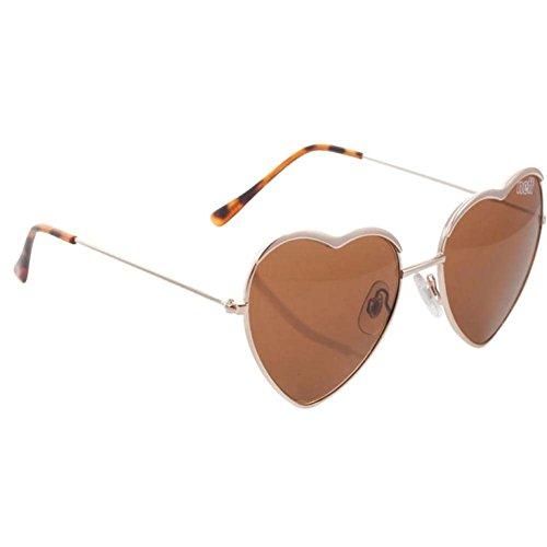 Neff Unisex Luv U Sunglasses, Gold, One Size Fits - Sunglasses Neff