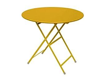 Emu arc en ciel table pliante-ronde-acier orange emu de jardin ...