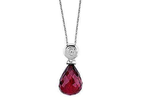 Pendentif Rubis et Diamants-Femme- or Blanc 215P0029