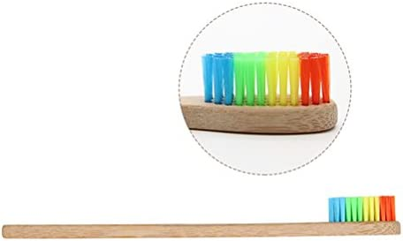 ROSENICE Cepillo de dientes de bambú 12 piezas nylon nylon iridiscente sostenible material alternativa natural al plástico