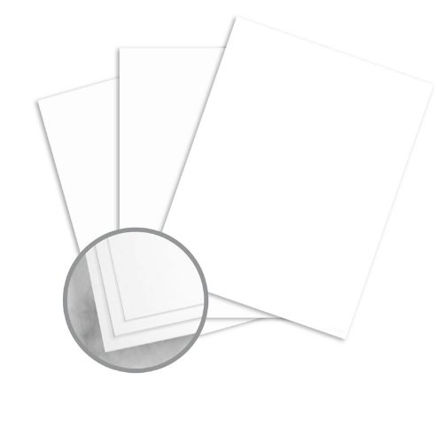Strathmore Script 24 Lb Writing - Strathmore Script Bright White Paper - 8 1/2 x 11 in 24 lb Writing Smooth 30% Recycled Watermarked 500 per Ream