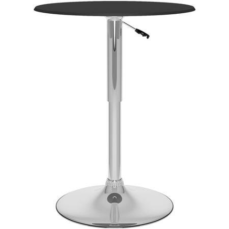 CorLiving DPV-204-T Adjustable 360 Swivel Round Bar Table with Black Leatherette Table Top by CorLiving