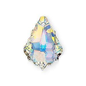 SWAROVSKI ELEMENTS Crystal Baroque Pendant Bead #6090 22x15mm Crystal AB (1) ()