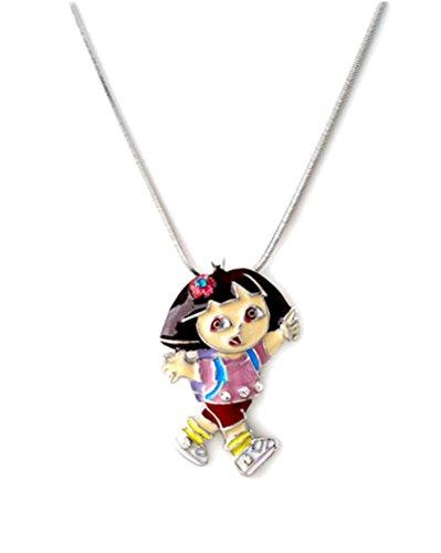 Fashion Jewelry ~ Multi Color Dora the Explorer Pendant Necklace (N6937 Multi)