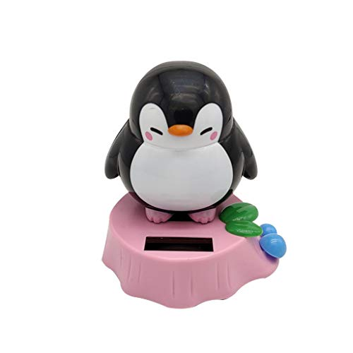 Solar Car Decorations - Solar Dancing Toys - Penguin Swinging Animated Dancer Toy - Car Dashboard Windowsill Office Desk Home Decoration Compatible with Indoor and Outdoor Lighting (Popular, ()