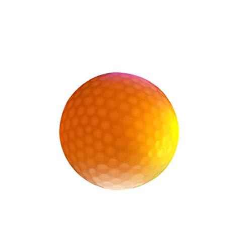 hAohAnwuyg Golf Ball,1Pc Electronic Bright Lighting Golf Ball Dark Night Sport Practice Training - Yellow
