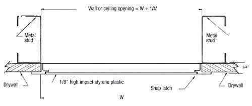DYNASTY Hardware AP1429 Access Door 14'' x 29'' Styrene Plastic White