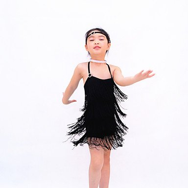 BLACK Accesorios de Vestidos Cheerleader Danza de Noche Desempeño Danza Jazz Moderna Latina LA como Foto Ropa Licra Vestidos en la la r0Hqrw1p