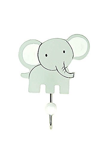 Kids Elephant Coat Hook Wall Door Hooks for Boys or Girls Nursery or Bedroom