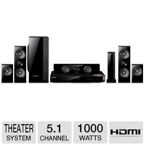 Samsung 5.1 Channel 1000 Watts wireless surround sound 3D Blu-ray Home Theater System by Samsung